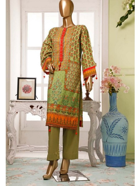 BIN SAEED Lawn Stitched Kurti Collection D-15