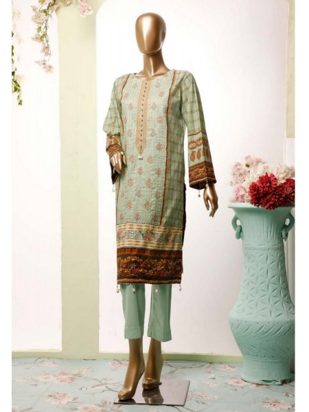 BIN SAEED Lawn Stitched Kurti Collection D-18