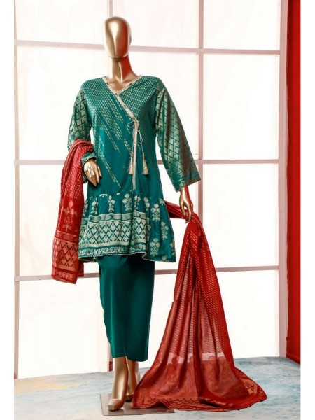 BIN SAEED Stitched Broshia Banarsi Lawn Collection Zjk-411