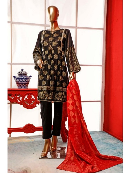 BIN SAEED Stitched Broshia Banarsi Lawn Collection Zjk-413