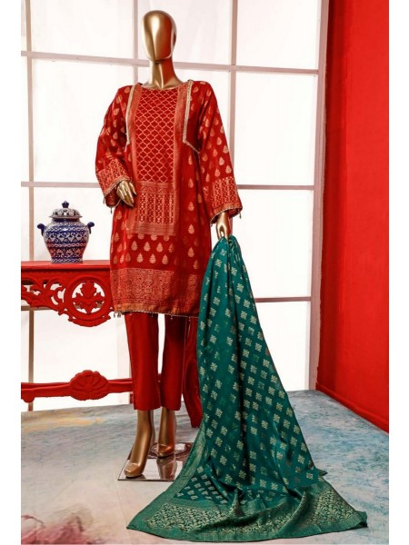 BIN SAEED Stitched Broshia Banarsi Lawn Collection Zjk-415