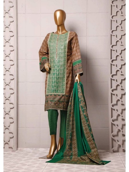 BIN SAEED Stitched Printed And Embroidered Lawn Collection'20 D-FLE 17
