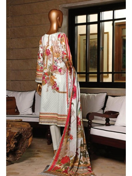BIN SAEED Stitched Printed And Embroidered Lawn Collection'20 D-FLE 32