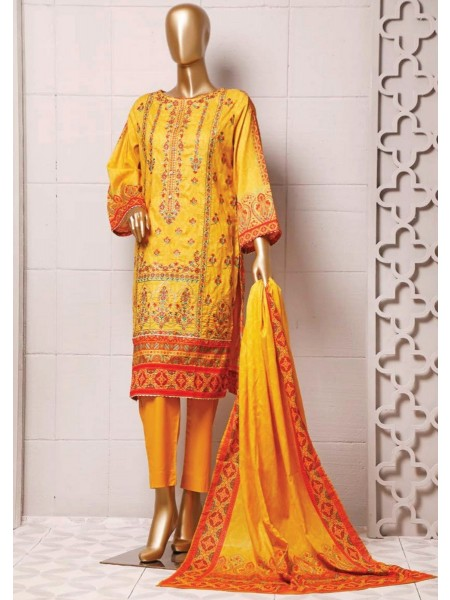 BIN SAEED Stitched Printed And Embroidered Lawn Collection'20 D-FLE 35