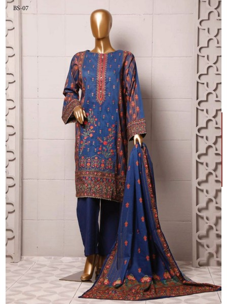BIN SAEED Stitched Printed And Embroidered Lawn Collection'20 D-FLE 49