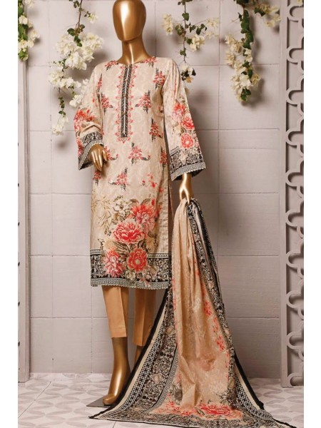 BIN SAEED Stitched Printed And Embroidered Lawn Collection'20 D-Zbs 005
