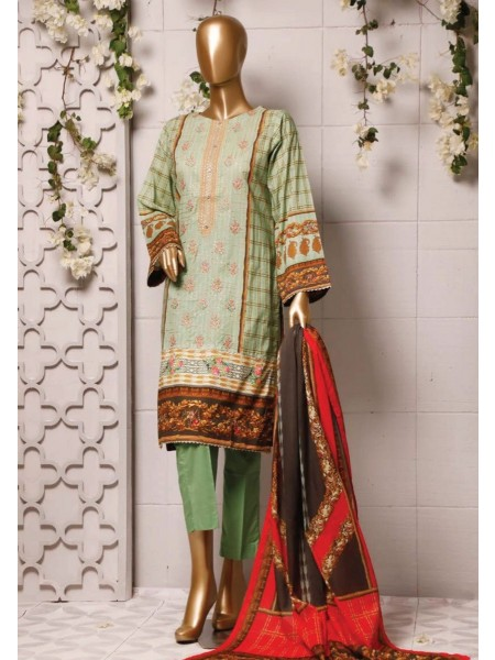 BIN SAEED Stitched Printed And Embroidered Lawn Collection'20 D-Zbs 1100