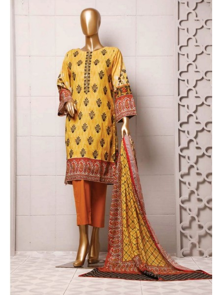BIN SAEED Stitched Printed And Embroidered Lawn Collection'20 D-Zbs 75