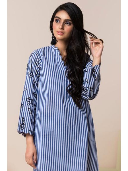 By The Way Eid Collection Blue Lines WRH0828-XSM-BLU