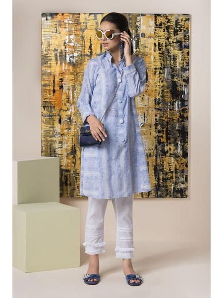 By The Way Eid Collection Printed Lines WRH0818-XXS-BLU