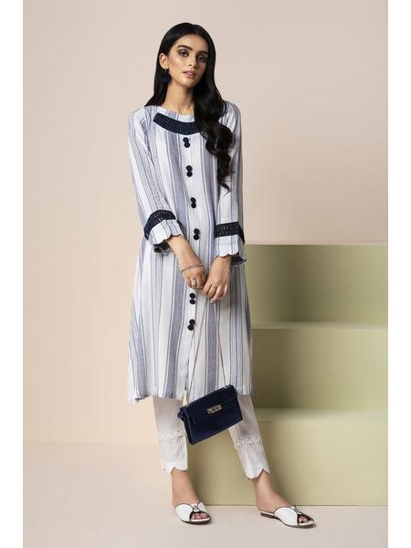By The Way Eid Collection Stripes WRH0837-XSM-WHT