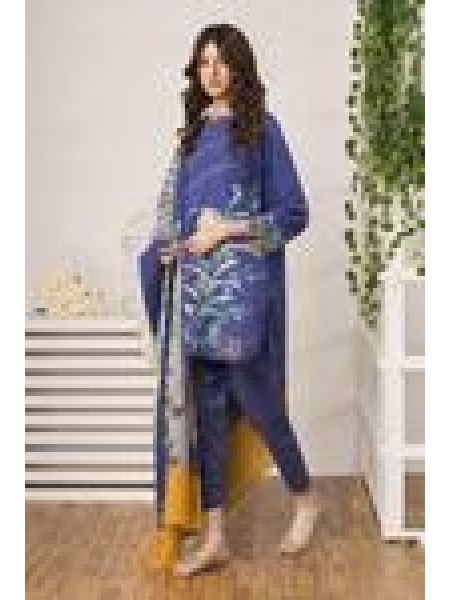 By The Way Summer Unstitched Collection Sapphire Tides WRU0025-REG-BLU