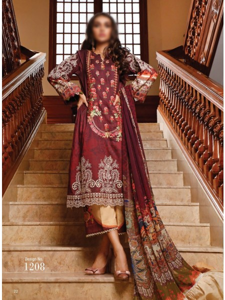 FIRDOUS SCHIFFLI UNSTITCHED EMBROIDERED FESTIVE COLLECTION D-1208