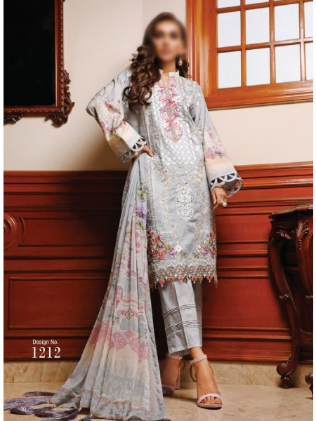 FIRDOUS SCHIFFLI UNSTITCHED EMBROIDERED FESTIVE COLLECTION D-1212