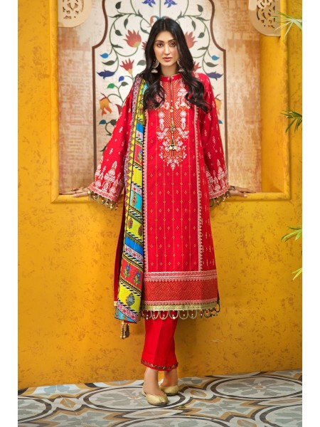Gul Ahmed Eid 2020 3 PC Embroidered Digital Printed-Suit with Zari Dupatta FE-359