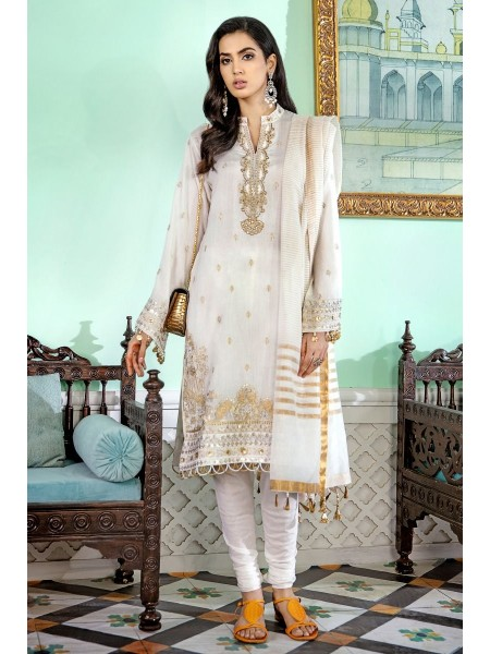 Gul Ahmed Eid 2020 3 PC Embroidered-Suit with Jacquard Dupatta FE-346