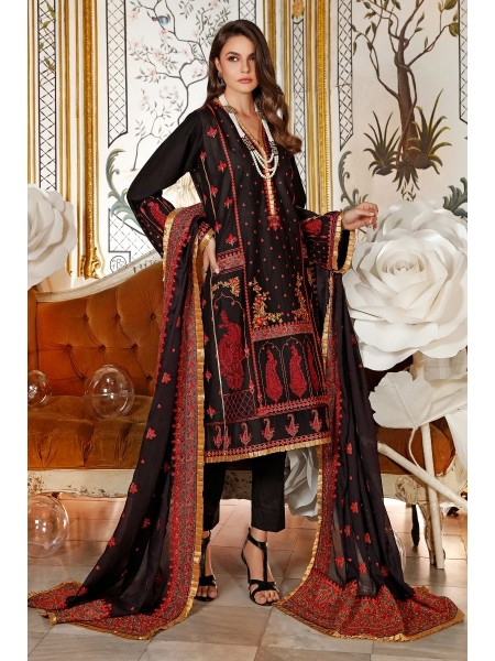 Gul Ahmed Eid 2020 3 PC Embroidered-Suit with Silk Dupatta FE-294