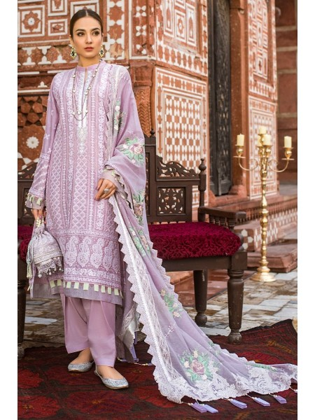 Gul Ahmed Eid 2020 3 PC Embroidered-Suit with Woven Net Dupatta FE-302