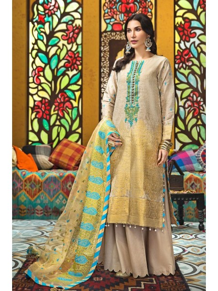 Gul Ahmed Eid 2020 3 PC Embroidered-Suit with Zari Net Dupatta FE-280
