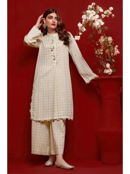 Gul Ahmed Eid 2020 Gold & Lacquer Printed-Shirt FE-369