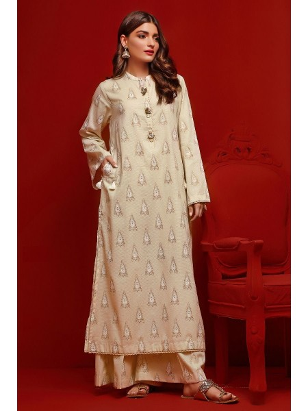 Gul Ahmed Eid 2020 Gold & Lacquer Printed-Shirt FE-370