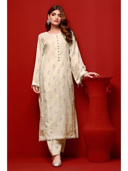 Gul Ahmed Eid 2020 Gold & Lacquer Printed-Shirt FE-371