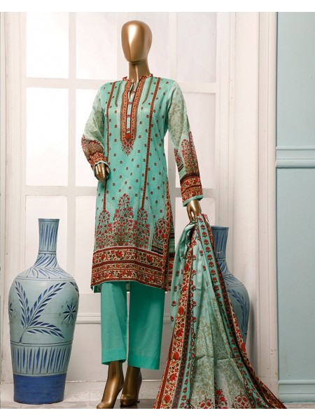 HZ TEXTILE Diamond Supreme Unstitched Printed Vol 02 D-DS-16 Aqua Green