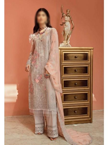 IMROZIA Grandiose Unstitched Collection20 - La Roza Premium D-L-209 CLOUDY GREY