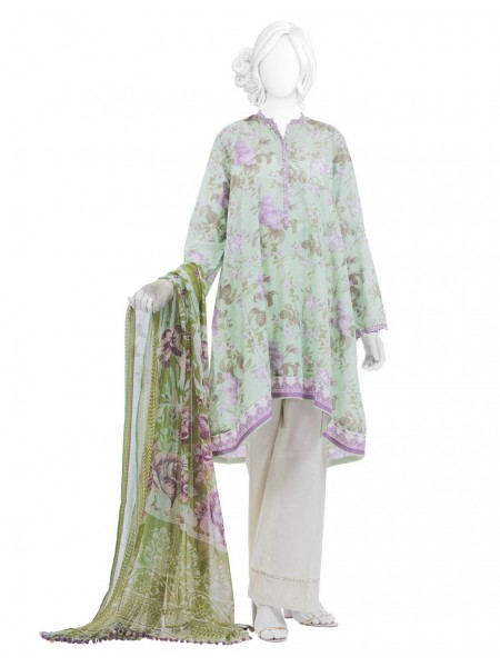 Junaid Jamshed Festive Collection vol2 JLAWN-S-20-786 Alba Green