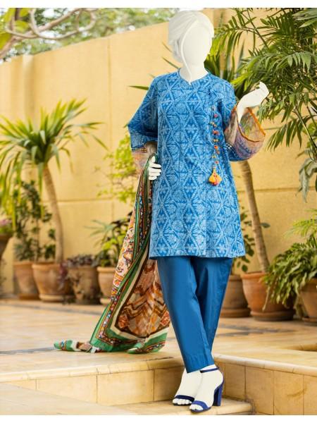 Junaid Jamshed Festive Collection vol2 JLAWN-S-JDS-20-1058 Indigo Blues