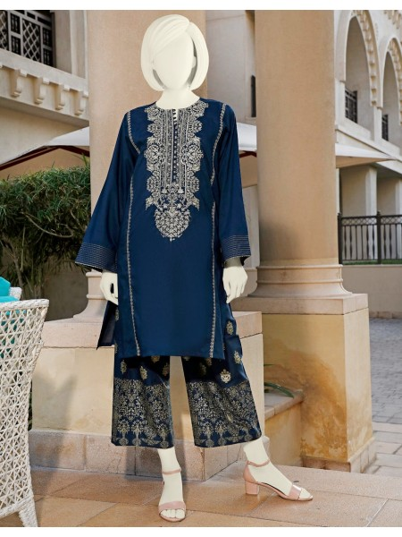 Junaid Jamshed Festive Collection vol2 JLAWN-S-JST-20-1629 Indigo