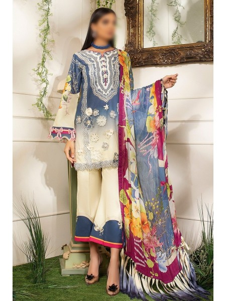 MUSHQ HEMLINE Unstitched Luxury Collection D-AFRICAN DAISY