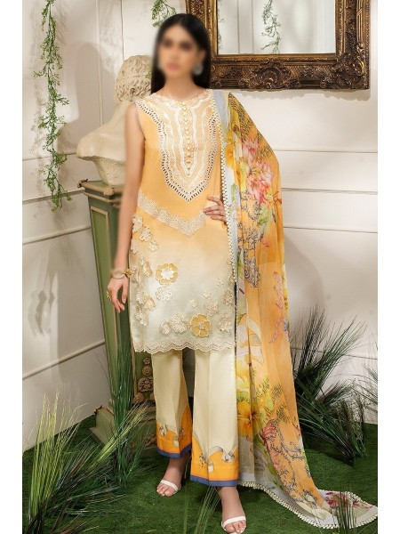 MUSHQ HEMLINE Unstitched Luxury Collection D-BUTTERCUP