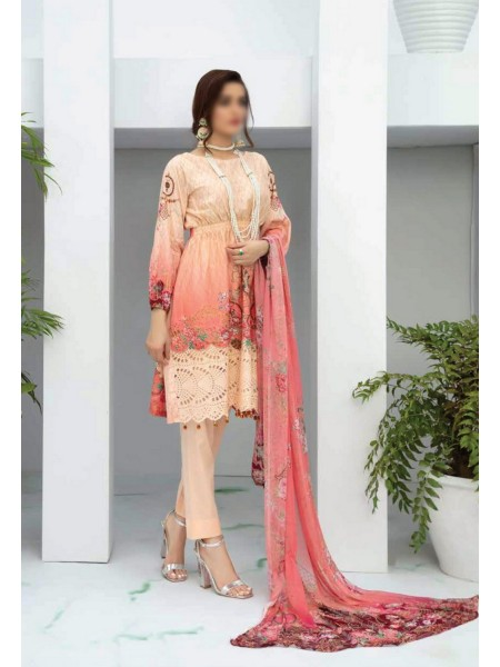 RIAZ ARTS Aafreen Embroidery Chikankari Lawn Unstiched Collection D-AE 77