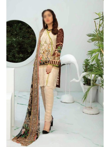 RIAZ ARTS Aafreen Embroidery Chikankari Lawn Unstiched Collection D-AE 78