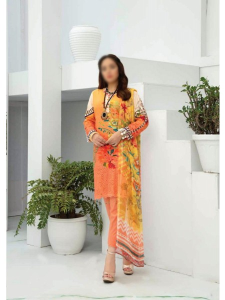 RIAZ ARTS Aafreen Embroidery Chikankari Lawn Unstiched Collection D-AE 79