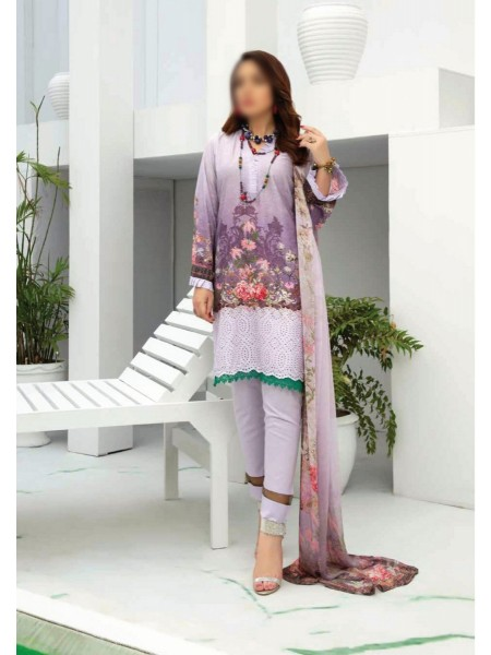 RIAZ ARTS Aafreen Embroidery Chikankari Lawn Unstiched Collection D-AE 80