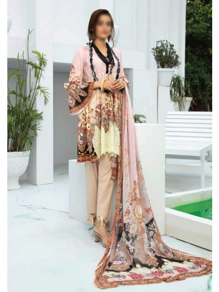 RIAZ ARTS Aafreen Embroidery Chikankari Lawn Unstiched Collection D-AE 81