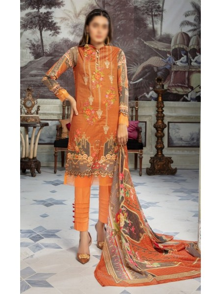 RIAZ ARTS Tabeer Unstiched Embroidered Digital Collection Design 03