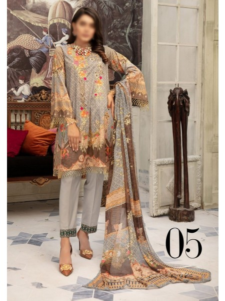 RIAZ ARTS Tabeer Unstiched Embroidered Digital Collection Design 05