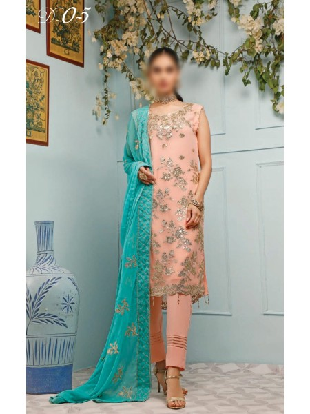 SOGHAT DHANI Unstitched Festive Collection 2020 D-05