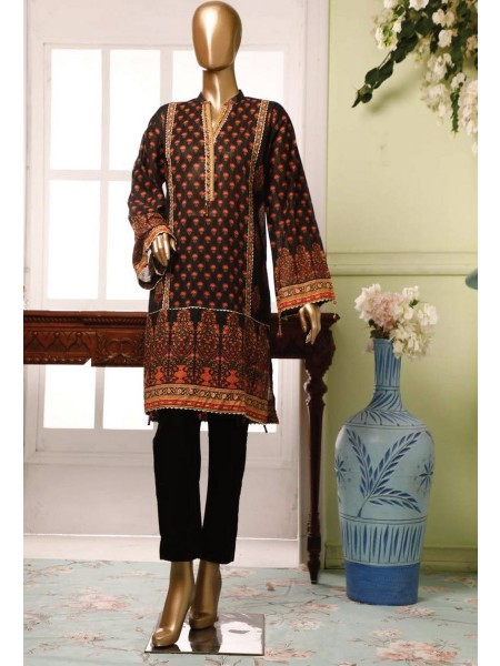 BIN SAEED Lawn Stitched Kurti Collection D-03