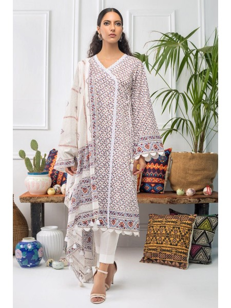 Gul Ahmed Mid Summer Collection 2 PC Unstitched Printed Cambric Suit CNT-04