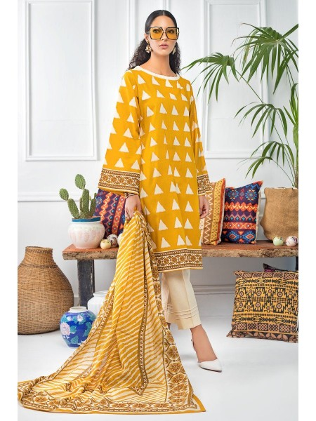 Gul Ahmed Mid Summer Collection 2 PC Unstitched Printed Cambric Suit CNT-05