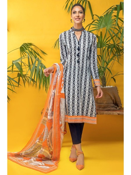 Gul Ahmed Mid Summer Collection 2 PC Unstitched Printed Cambric Suit TCN-56