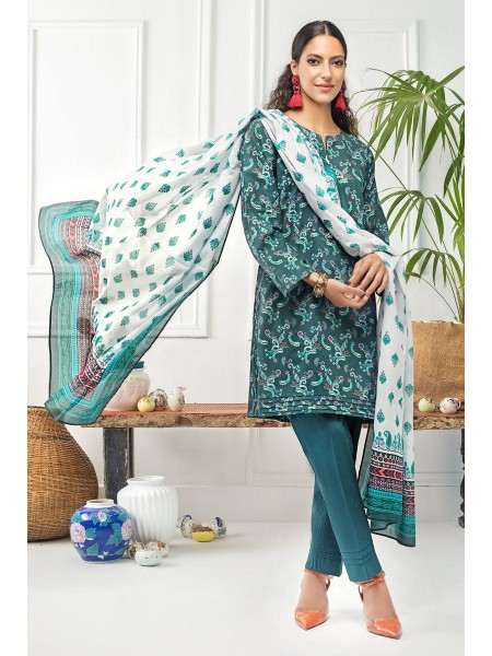 Gul Ahmed Mid Summer Collection 2 PC Unstitched Printed Cambric Suit TCN-57
