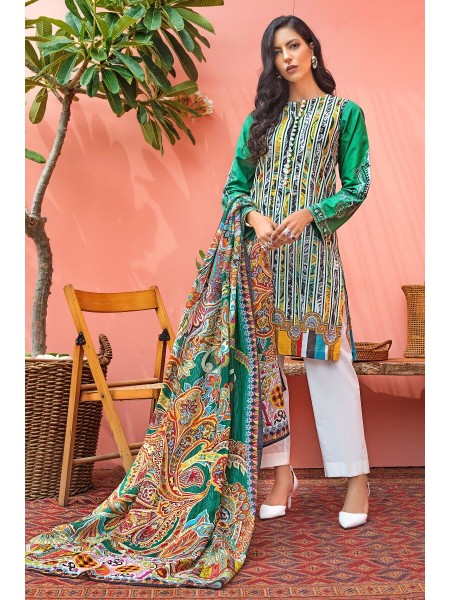 Gul Ahmed Mid Summer Collection 2 PC Unstitched Suit with cotton Net Dupatta CNT-02
