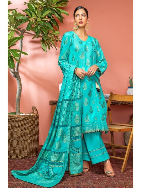 Gul Ahmed Mid Summer Collection 3 PC Jacquard Unstitched Suit JC-02