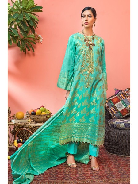 Gul Ahmed Mid Summer Collection 3 PC Jacquard Unstitched Suit JC-06