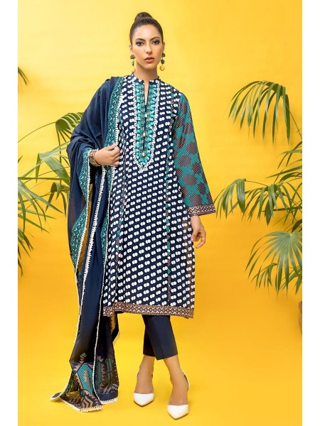 Gul Ahmed Mid Summer Collection 3 PC Unstitched Embroidered Cambric Suit CBE-119